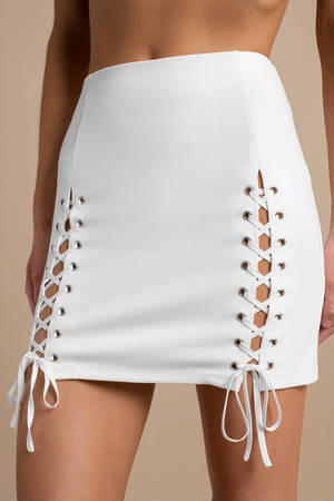 32e10cf6643 Why Bother White Skirt Why Bother White Skirt ...