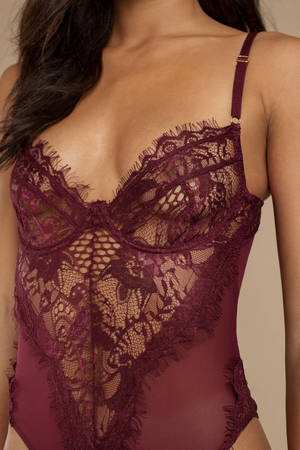 a4d71a5221 Night After Night Wine Lace Bodysuit Night After Night Wine Lace Bodysuit  ...