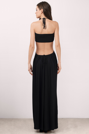 515d4ab11f3 Sexy Maxi Dress - Cut Out Dress - Black Dress - Black Hourglass ...