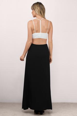 5a075a54ca Sexy Black Skirt - Maxi Skirt - Slit Skirt - Black Skirt - € 12 ...