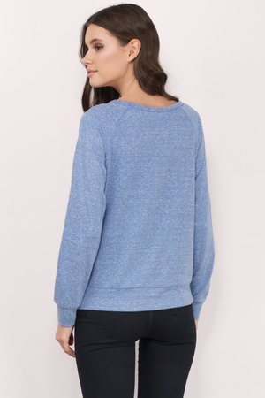 c7c4aed28bbe Cheap Blue Sweater - Long Sleeve Sweater - Blue Hoodie - £6   Tobi GB