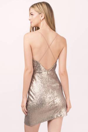 Gold Bodycon Dress - Spaghetti Strap Dress - Gold Bodycon - € 20 ... ae84e2f6f