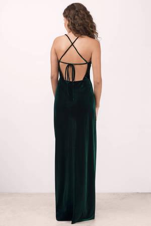dc88607f520 Green Maxi Dress - Velvet Maxi Dress - Green Gown Dress - £31