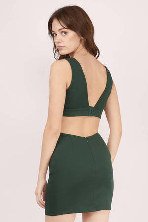 bf20e79c8 Cheap Green Bodycon Dress - Backless Dress - Bodycon Dress - € 14 ...