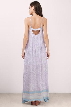 aabf21d6555262 Boho Maxi Dress - Paisley Dress - Lavender Dress - Country Maxi ...
