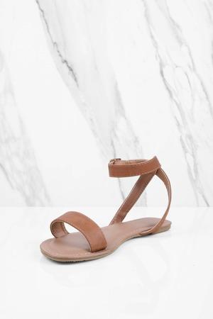 89a340fdd47 Mocha Sandals - Ankle Strap Sandals - Single Strap Mocha Sandals - S ...