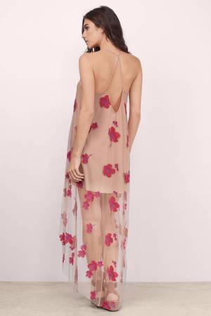 Pink maxi dress nz