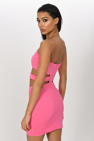 e6ad809af80d Pink Bodycon Dress - Cut Out Dress - Hot Pink Party Dress - € 27 ...