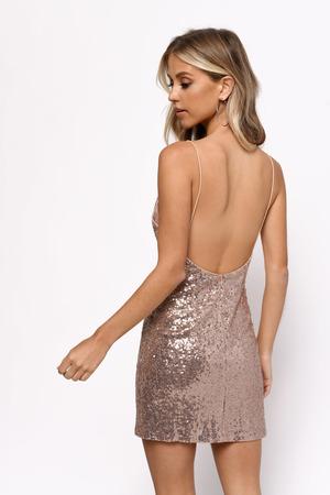 5bc82e0978ae Fun Pink Bodycon Dress - Spaghetti Strap Dress - Pink Open Back ...