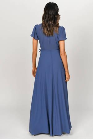 e02ebb804b Piper Slate Plunging Maxi Dress - £43