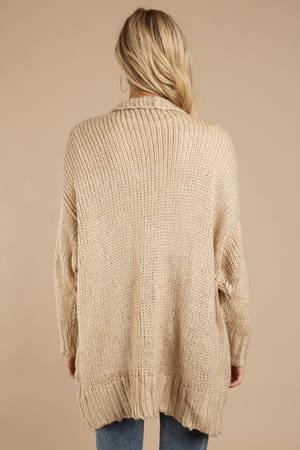 2cc99058cb Beige Cardigan - Chunky Knit Cardigan - Beige Cable Knit Cardigan ...