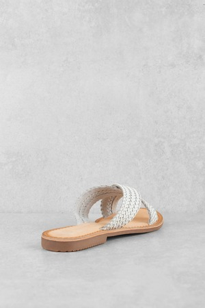 4ba92d7964a2 ... Chinese Laundry Chinese Laundry Popular White Criss Cross Strap Sandals  ...