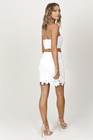 f8412f4082c White Skirt - Pencil Mini Skirt - White Lace Skirt - Bridal Skirt ...