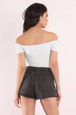 46ec94f2e29 Cute White Bodysuit - Off Shoulder Bodysuit - White Bodysuit - C$ 15 ...