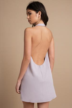 13215ce06eb2 Lavender Shift Dress - Backless Dress - Lavender Dress - € 70 | Tobi NL