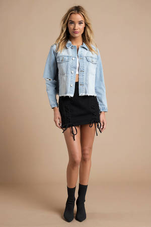 ee79fd22897 ... ROLLA S Rolla s Slouch Light Wash Cropped Distressed Denim Jacket
