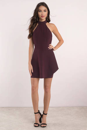 a1397188a3 Merlot Dress - Open Back Dress - Skater Dress - AU  46