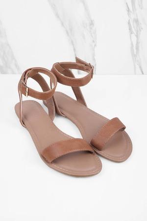 05735821c1b Mocha Sandals - Ankle Strap Sandals - Single Strap Mocha Sandals ...