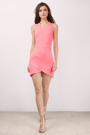 5e298e35360 Cute Pink Dress - Halter Dress - Beautiful Pink Dress - Bodycon ...