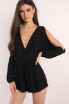 Be My Beauty Cold Shoulder Romper