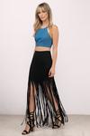 Free Spirit Fringe Maxi Skirt