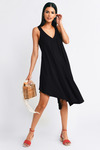 Jayn Flowy Cascade Shift Dress