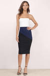 Hannah Color Block Strapless Dress