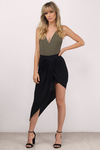 Point Made Asymmetrical Skirt