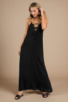 Sundance Lace Up Maxi Dress