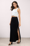 Up For It Ribbed Maxi Skirt