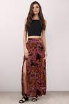 Velvet Petals Maxi Skirt