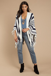 Priya Striped Blanket Cardigan