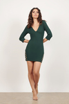Miss Me Much Plunging Bodycon Dress