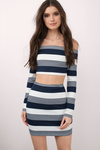 Hideaway Striped Crop Top