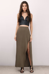 Fearless High Slit Maxi Skirt