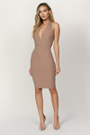 Take Sides Ribbed Halter Dress