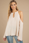My Answer To You Cold Shoulder Blouse