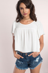 Cecilia Flutter Crop Top