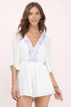 Take Chances Embroidered Romper