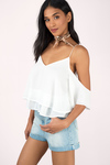 Step Up Cold Shoulder Blouse